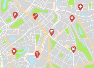 Place location relating to the marketing mix